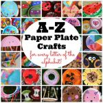 Craft Ideas Using Paper Plates A Collection Of A Z Paper Plate Crafts By Happy Hooligans craft ideas using paper plates|getfuncraft.com