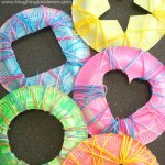 Craft Ideas Using Paper Plates Simple Sewing Shapes Using Paper Plates And Yarn