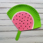 Craft Ideas Using Paper Plates Watermelon