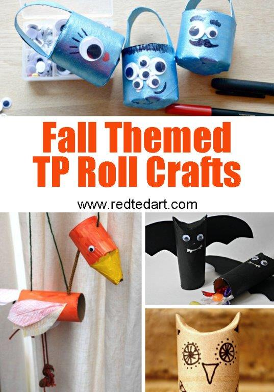 Crafts With Toilet Paper Rolls Fall Tp Crafts crafts with toilet paper rolls  getfuncraft.com