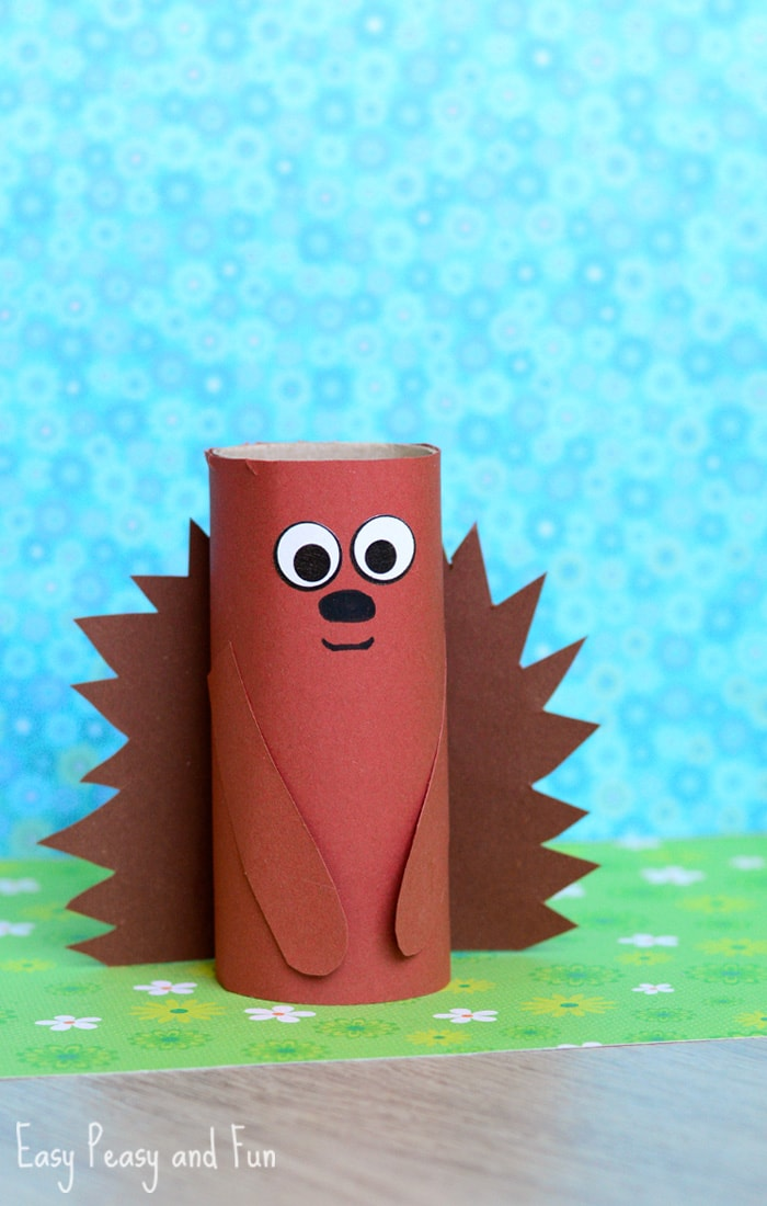Crafts With Toilet Paper Rolls Paper Roll Hedgehog Craft crafts with toilet paper rolls |getfuncraft.com