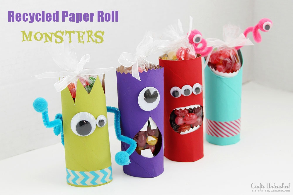 Crafts With Toilet Paper Rolls Toilet Paper Roll Crafts Monsters Crafts Unleashed crafts with toilet paper rolls |getfuncraft.com