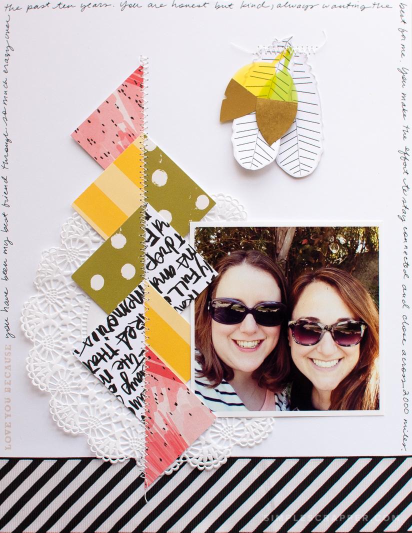 Creative Relationship Scrapbook Ideas Love You Because Simple Scrapbook Layout Simple Scrapper