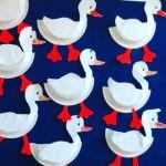 Duck Paper Plate Craft Paper Plate Duck Craft duck paper plate craft|getfuncraft.com
