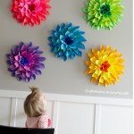 Flower From Paper Craft Diy Paper Dahlia Flowers Sq