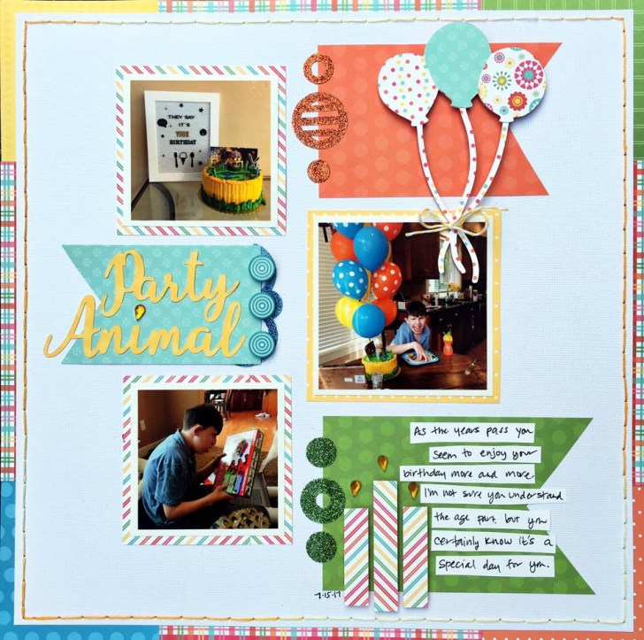 How to Turn Blank Scrapbook Pages into Beautiful Spring Scrapbook Pages