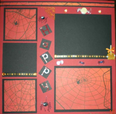 Ornaments to Apply on Halloween Scrapbook Pages 2 12x12 Premade Halloween Scrapbook Pages
