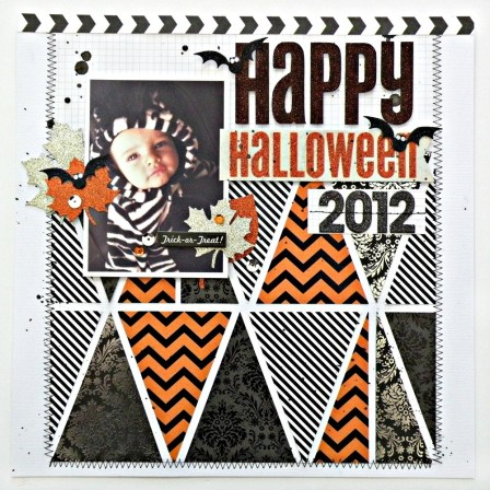 Ornaments to Apply on Halloween Scrapbook Pages Halloween Scrapbook Page Me My Big Ideas