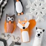 Owl Craft Toilet Paper Roll Winter Toilet Paper Roll Animals Craft owl craft toilet paper roll|getfuncraft.com