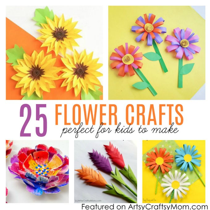 Paper Craft For Kids Flowers 25 Flower Crafts For Kids 2 paper craft for kids flowers|getfuncraft.com