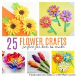 Paper Craft For Kids Flowers 25 Flower Crafts For Kids 2