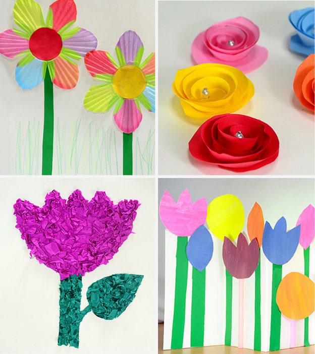 Paper Craft For Kids Flowers 25 Gorgeous Paper Flowers For Kids Craft Ideas 1 624x702 paper craft for kids flowers getfuncraft.com
