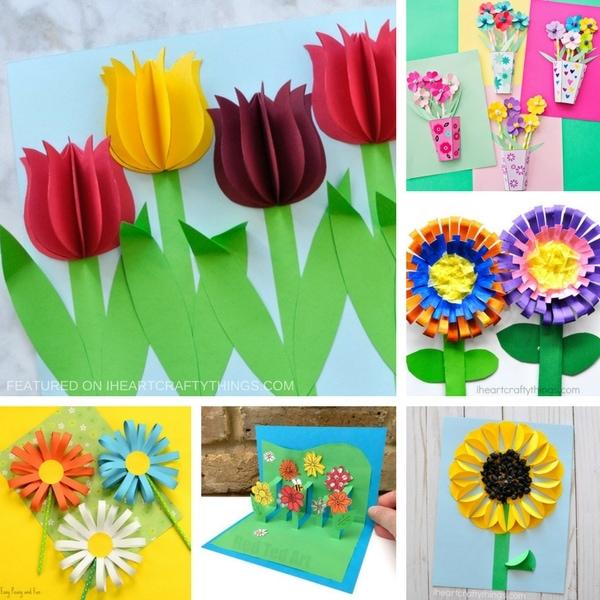 Paper Craft For Kids Flowers 3d Flower Crafts Foundup 2 paper craft for kids flowers|getfuncraft.com