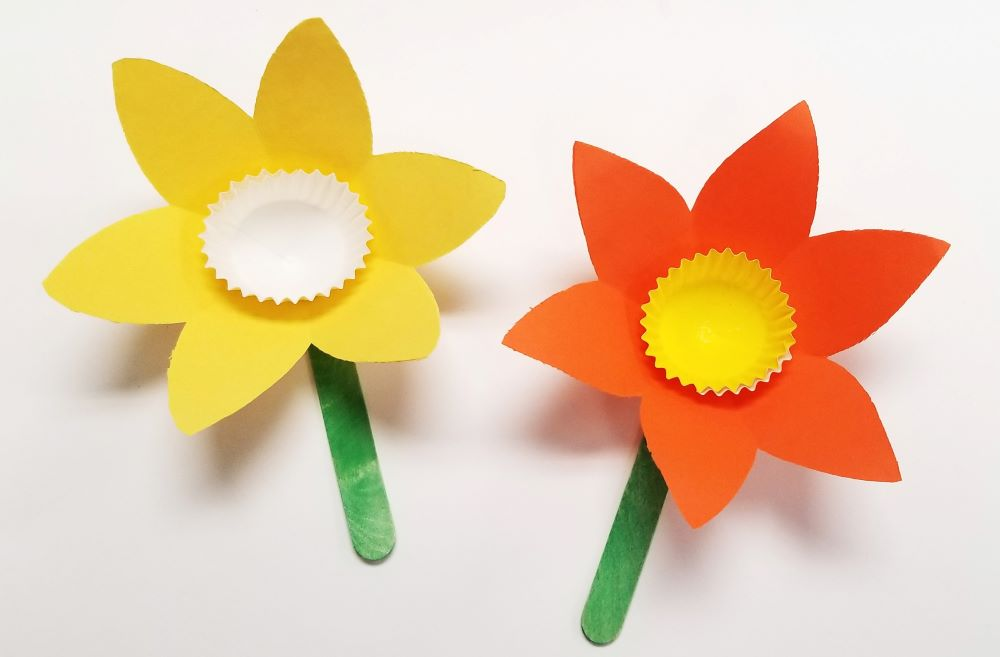 Paper Craft For Kids Flowers Daffodil Diy Craft paper craft for kids flowers|getfuncraft.com
