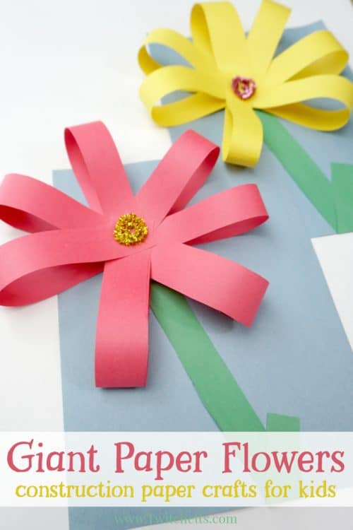 Paper Craft For Kids Flowers Giant Paper Flowers Construction Paper Crafts For Kids Pin 500x750 paper craft for kids flowers|getfuncraft.com
