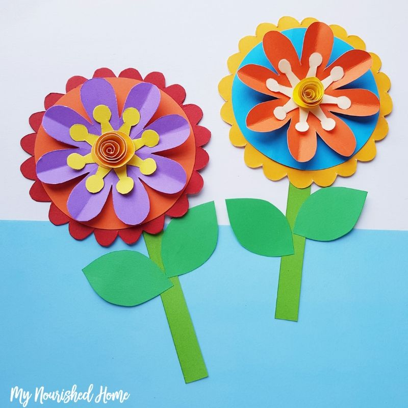 Paper Craft For Kids Flowers Paper Craft For Kids Make Whimsical Flowers Out Of Paper Mynourishedhome paper craft for kids flowers|getfuncraft.com