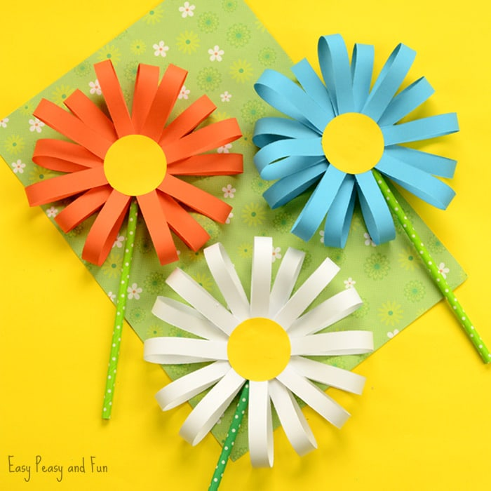 Paper Craft For Kids Flowers Paper Flower Craft paper craft for kids flowers|getfuncraft.com