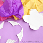 Paper Craft For Kids Flowers Paper Plate Tissue Paper Flower Kids Craft