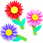 Paper Craft For Kids Flowers Simple Paper Daisy Craft paper craft for kids flowers|getfuncraft.com