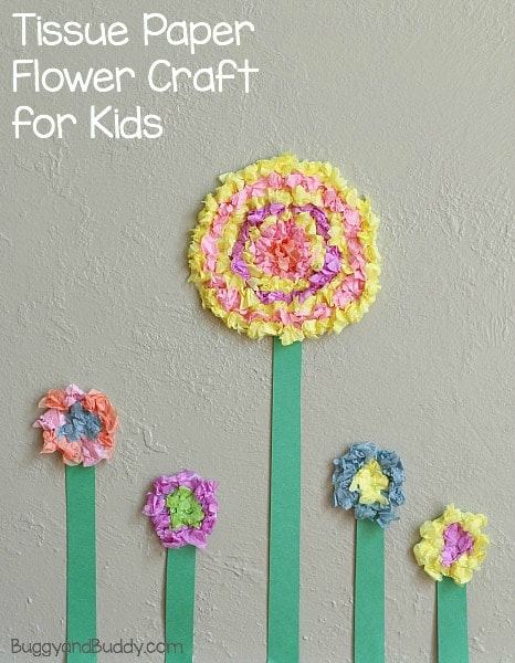Paper Craft For Kids Flowers Tissue Paper Header paper craft for kids flowers|getfuncraft.com
