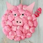 Paper Plate Pig Craft Cotton Ball Pig Adorable Paper Plate Crafts 5 paper plate pig craft getfuncraft.com