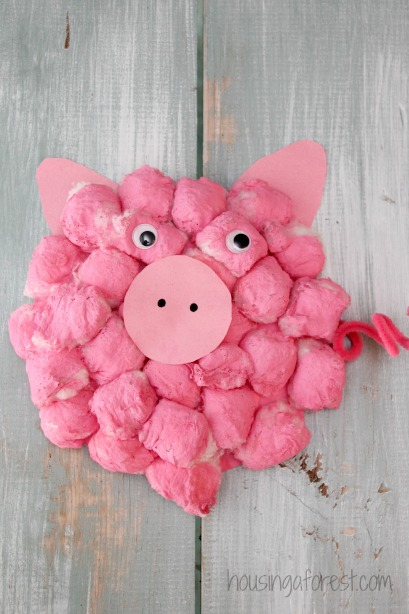 Paper Plate Pig Craft Cotton Ball Pig Adorable Paper Plate Crafts 6 paper plate pig craft|getfuncraft.com