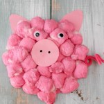 Paper Plate Pig Craft Cotton Ball Pig Adorable Paper Plate Crafts 6