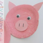 Paper Plate Pig Craft Paper Plate Pig Close Up