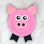 Paper Plate Pig Craft Pig Paper Plate Craft Feature Image paper plate pig craft|getfuncraft.com