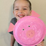 Paper Plate Pig Craft Pig Paper Plate Inspired By Peppa Pig paper plate pig craft|getfuncraft.com