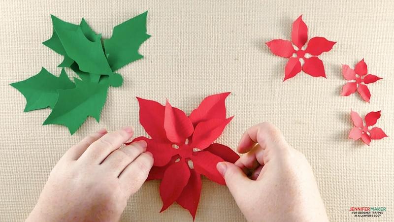 Paper Poinsettia Craft Diy Paper Poinsettia R 3 paper poinsettia craft|getfuncraft.com