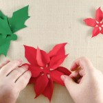Paper Poinsettia Craft Diy Paper Poinsettia R 3