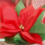 Paper Poinsettia Craft How To Make A Poinsettia Favor Horiz