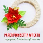 Paper Poinsettia Craft Paper Poinsetteia Wreath Craft 2 2