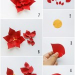 Paper Poinsettia Craft Paper Poinsetteia Wreath Craft Test 1