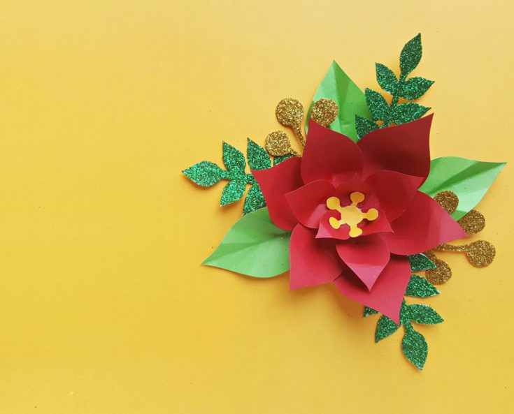 Paper Poinsettia Craft Paper Poinsettia Template 2 735x593 paper poinsettia craft getfuncraft.com