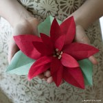 Paper Poinsettia Craft Paperpoinsettia paper poinsettia craft|getfuncraft.com