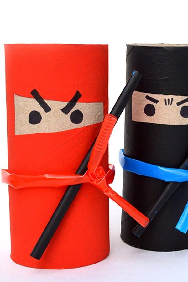 Paper Roll Craft Ideas Ninja Toilet Paper Roll Craft paper roll craft ideas  getfuncraft.com