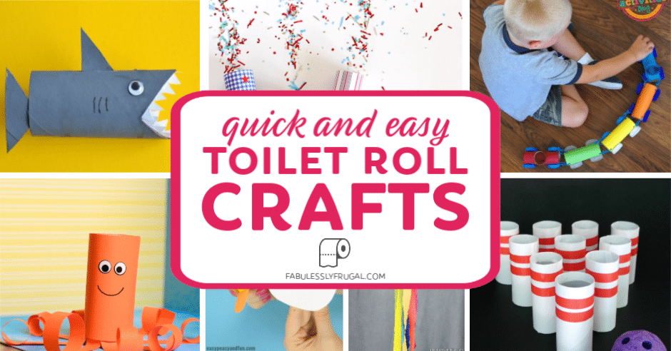 Paper Roll Craft Ideas Quick And Easy Toilet Roll Crafts paper roll craft ideas  getfuncraft.com