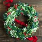 Paper Wreath Craft Christmas Paper Wreath Diy paper wreath craft getfuncraft.com