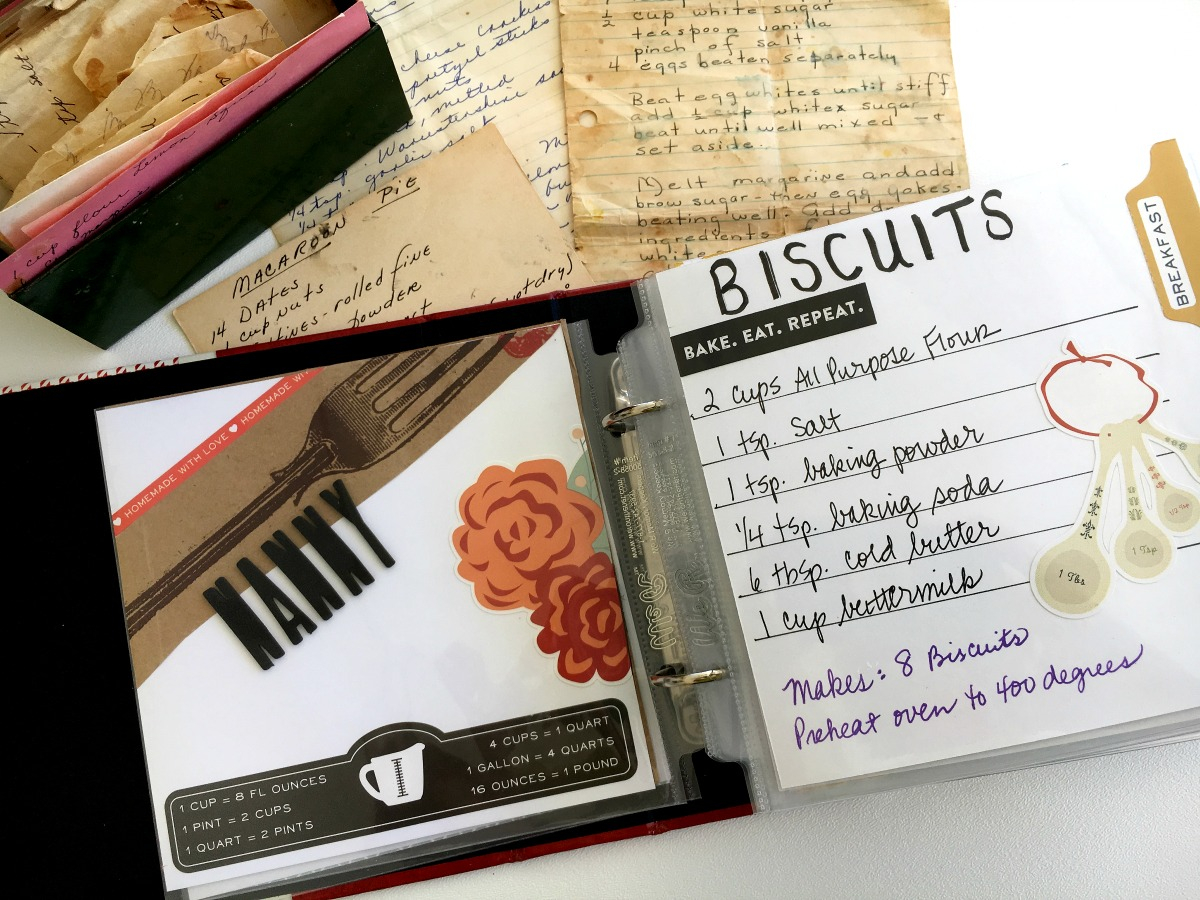 Scrapbook Recipe Book Ideas And Tips Family Cookbook Make Today