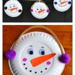 Snowman Paper Plate Craft Diy Paper Plate Snowman Garland Holiday Craft snowman paper plate craft|getfuncraft.com