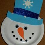 Snowman Paper Plate Craft Paper Plate Snowman Craft snowman paper plate craft|getfuncraft.com