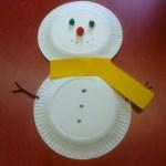 Snowman Paper Plate Craft Paper Plate Snowman Crafts Preschoolers snowman paper plate craft|getfuncraft.com