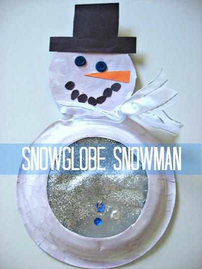 Snowman Paper Plate Craft Snowglobe Snowman snowman paper plate craft|getfuncraft.com