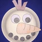Snowman Paper Plate Craft Snowman Paper Plate snowman paper plate craft|getfuncraft.com