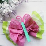 Tissue Paper Butterfly Craft Colorful Tissue Paper Butterfly tissue paper butterfly craft|getfuncraft.com