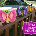 Tissue Paper Butterfly Craft Tissue Paper Butterflies tissue paper butterfly craft|getfuncraft.com