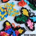 Tissue Paper Butterfly Craft Tissue Paper Butterfly Craft And A Lesson In Design Happy Ho tissue paper butterfly craft|getfuncraft.com