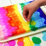 Tissue Paper Crafts Ideas Bleeding Tissue Paper Canvas Art Facebook tissue paper crafts ideas|getfuncraft.com